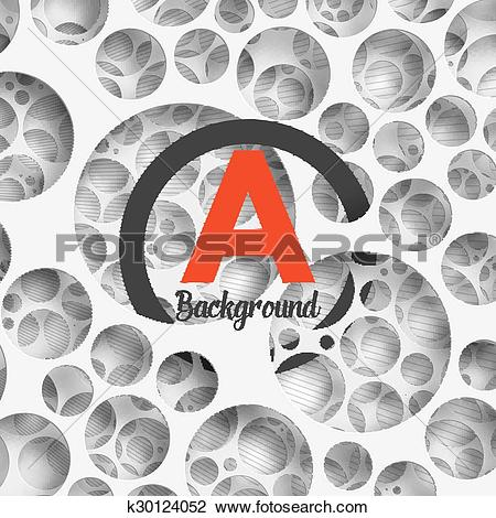 Clipart of Abstract background holey wall with penetrating circle.