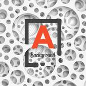 Clip Art of Abstract background holey wall with penetrating square.
