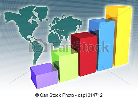 Clip Art of Global Market Penetration Increase.
