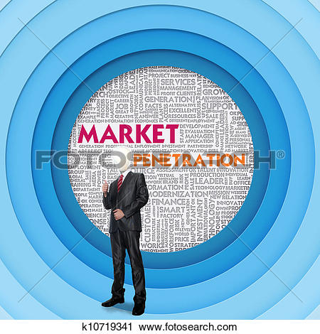 Clipart of Business word cloud for business concept, Market.