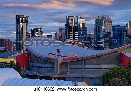 Stock Photo of The Scotiabank Saddledome, formerly Pengrowth.