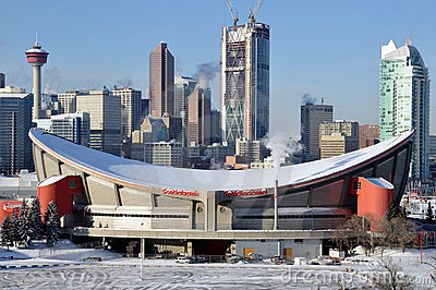Calgary Saddledome Editorial Image.