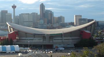 NHL Calgary Flames Pengrowth Saddledome.