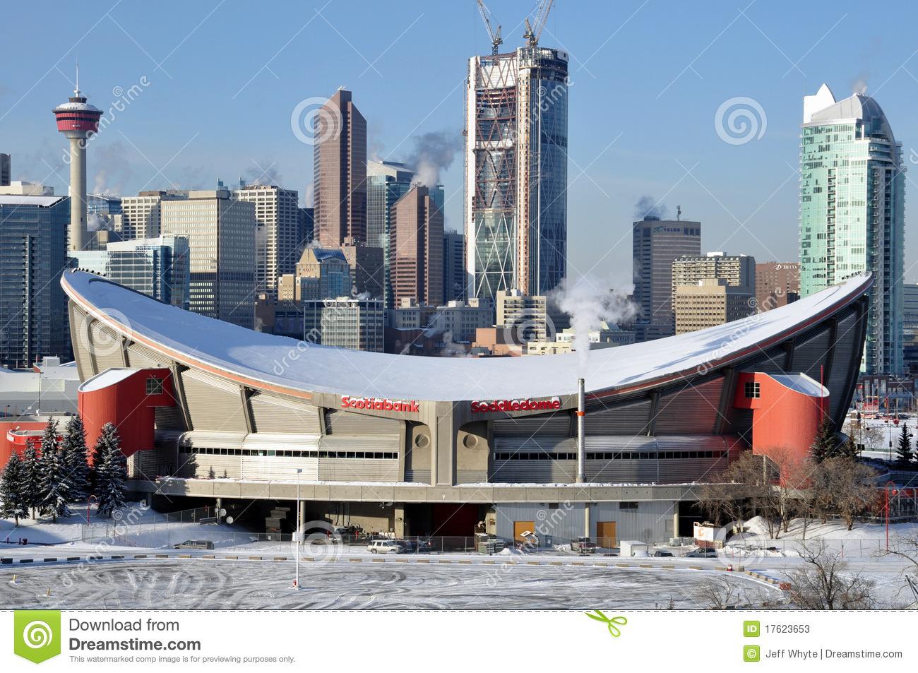 Calgary Saddledome Editorial Image.