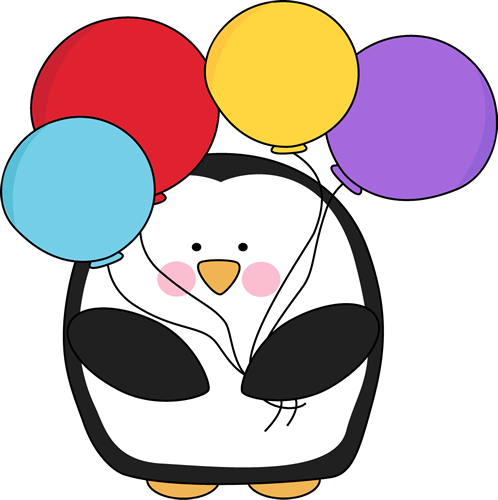 Penguin Birthday Clipart.