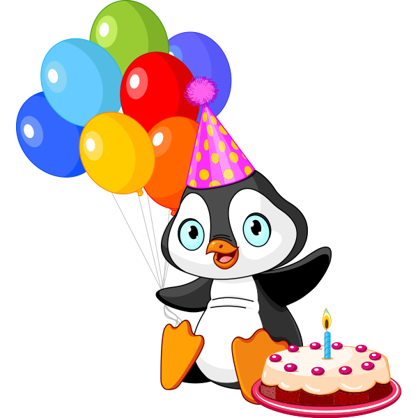 Birthday Party Penguin.