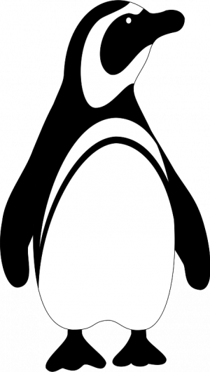 Penguin Clip Art Black And White.