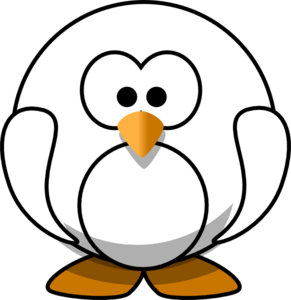 Cute Penguin Clip Art Black And White.
