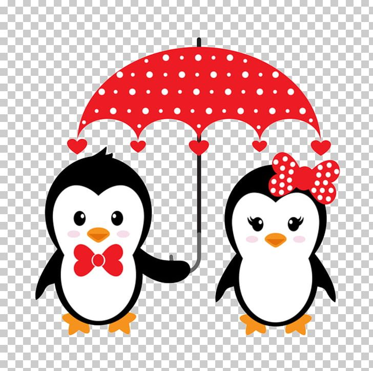 Penguin Cartoon Couple Illustration PNG, Clipart, Animals.