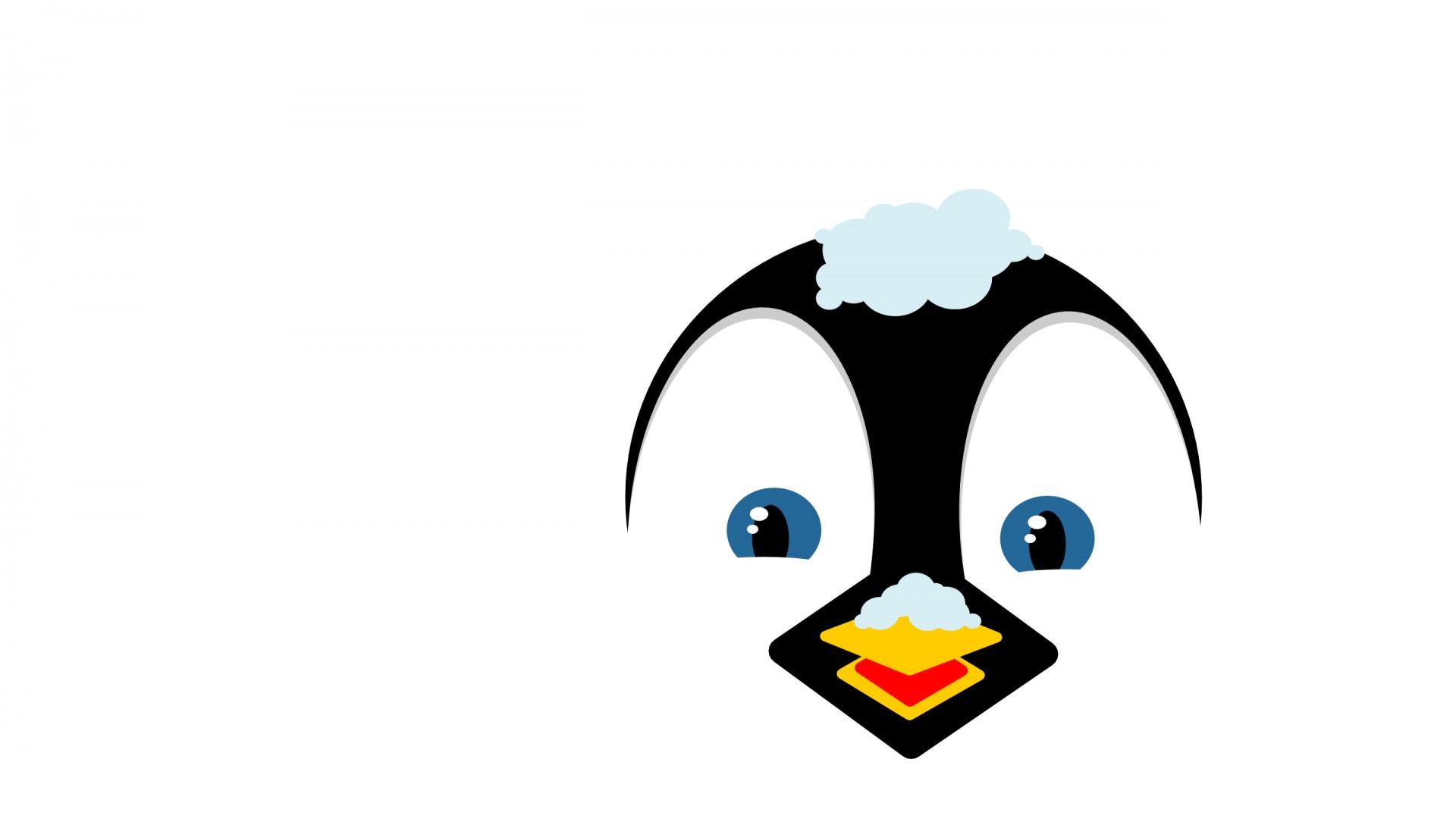 Penguin face clip art.
