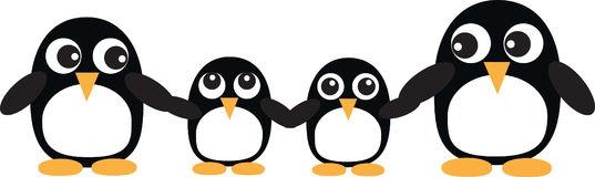 Penguin family clipart.
