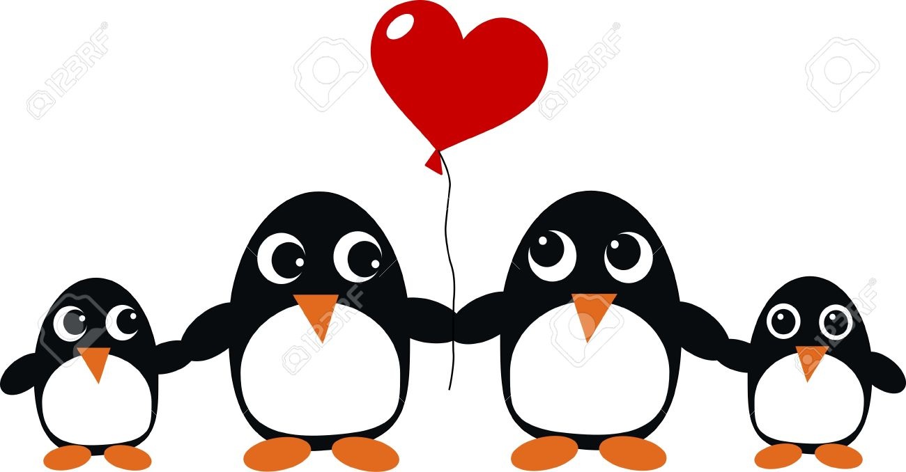 Penguin Family Royalty Free Cliparts, Vectors, And Stock.