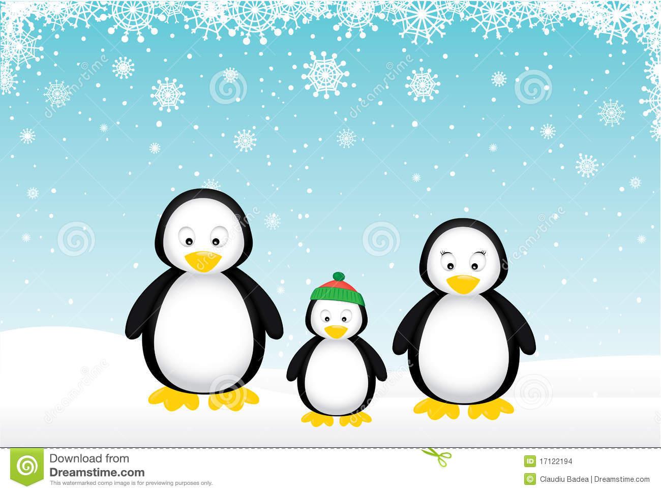 Penguin Family Stock Illustrations.