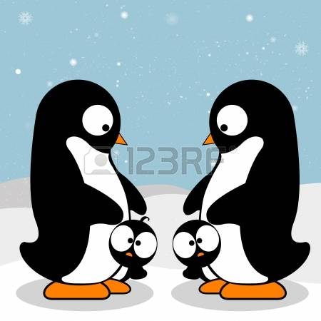 532 Penguin Family Stock Vector Illustration And Royalty Free.