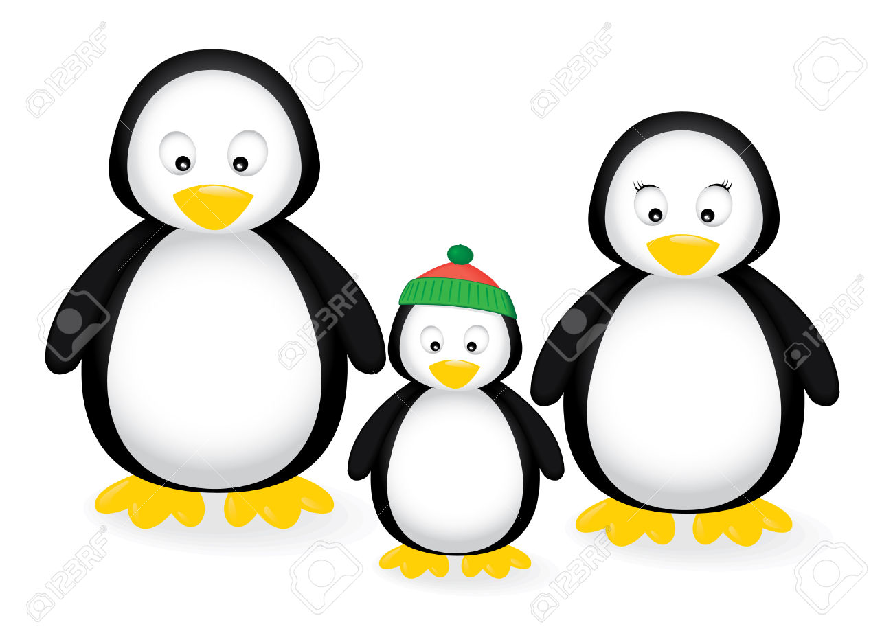 Showing post & media for Cartoon penguin family.