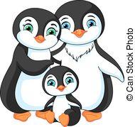 Penguin family Clip Art Vector Graphics. 226 Penguin family EPS.