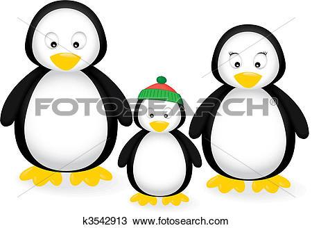 Clipart of Penguin Family k3542913.