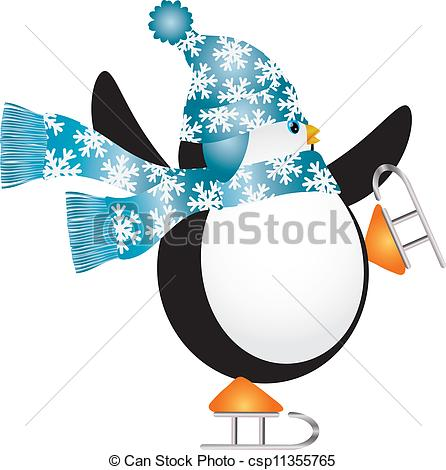 Ice skating penguins Clip Art and Stock Illustrations. 180 Ice.