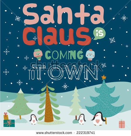 Claus Illustration Santa Coming Stock Photos, Royalty.