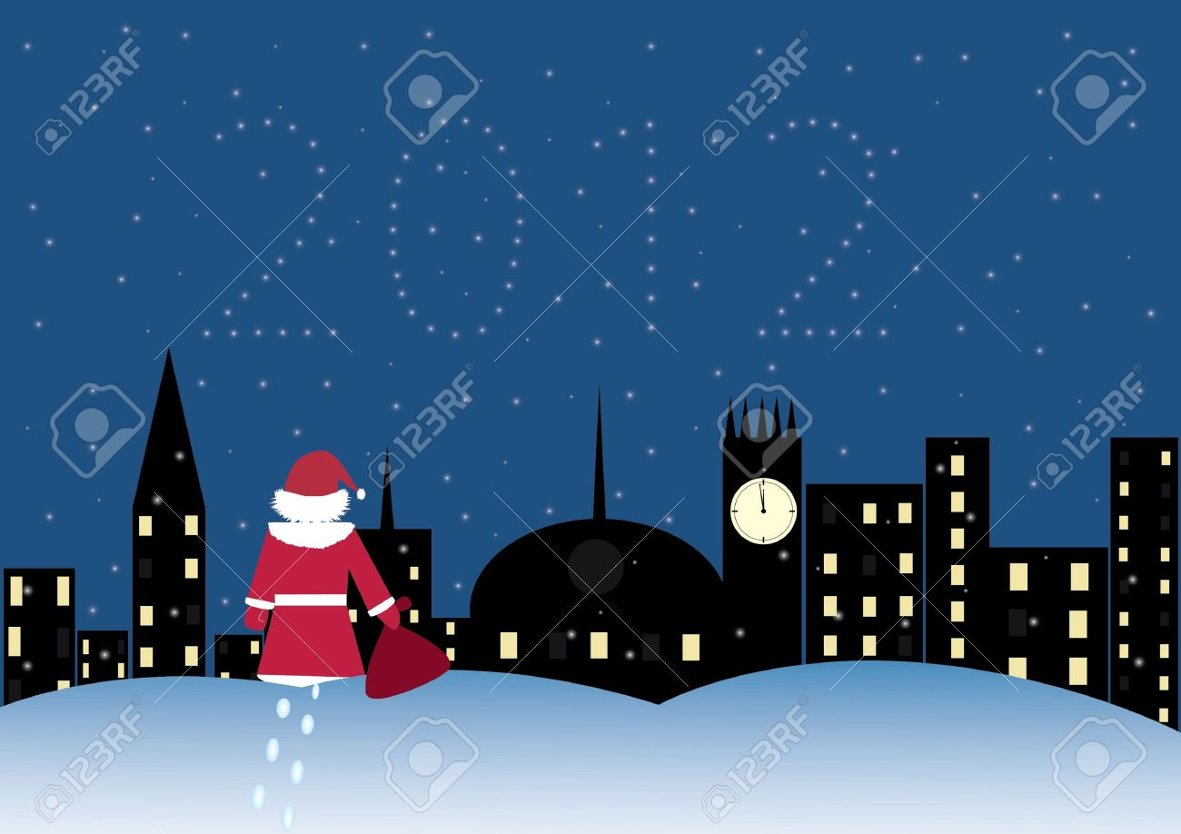 Santa Claus Is Coming To Town Clipart.