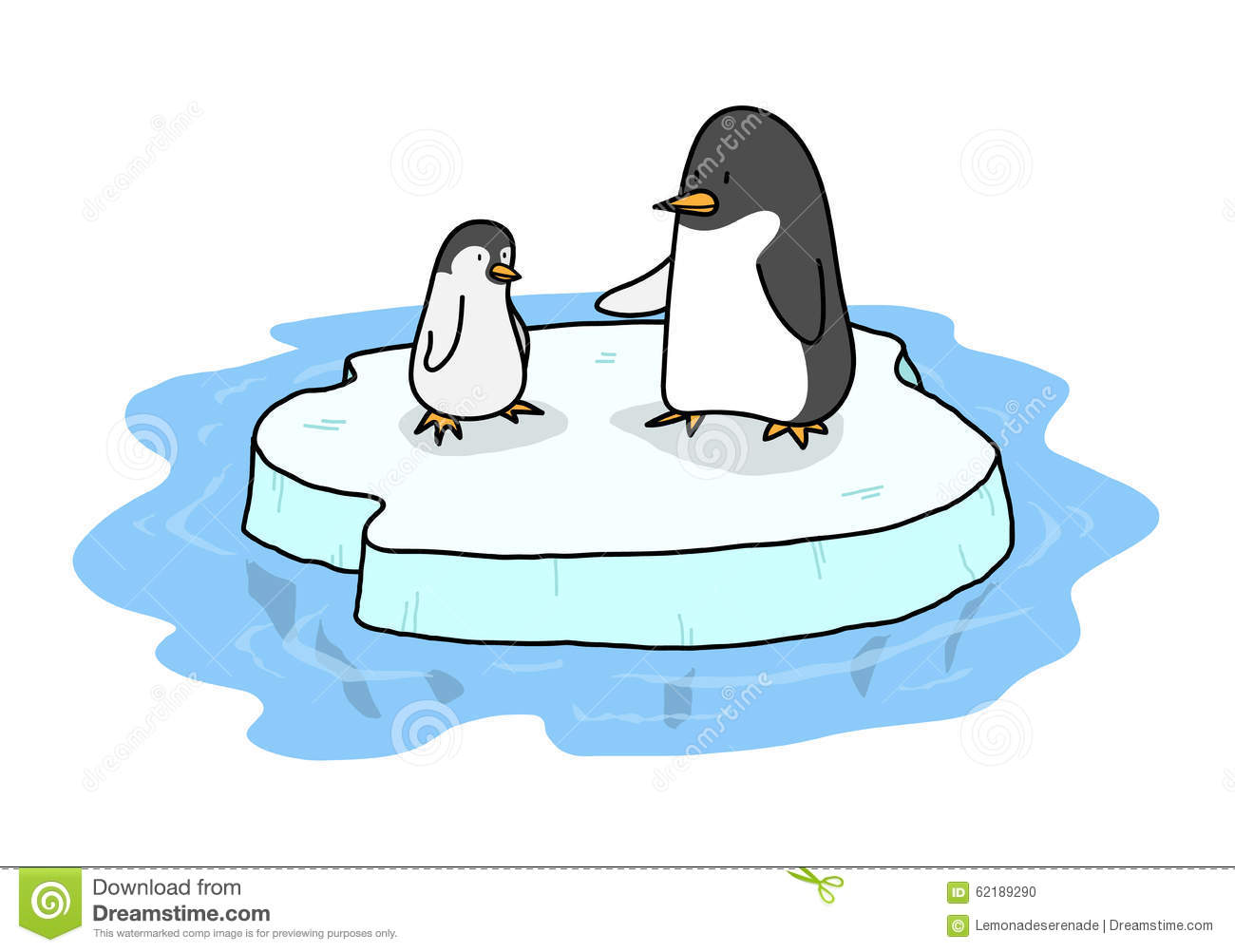1162 Penguins free clipart.