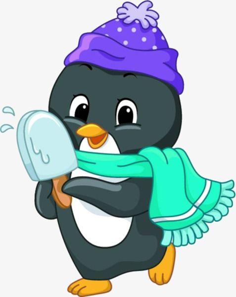 Cartoon Penguin Material.