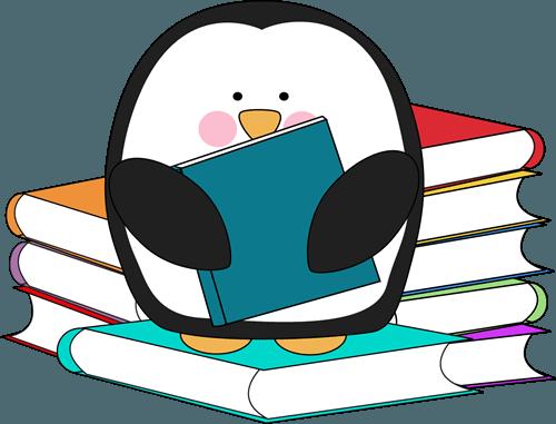 penguin reading ».