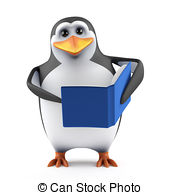 3d reading penguin Illustrations and Stock Art. 16 3d reading.