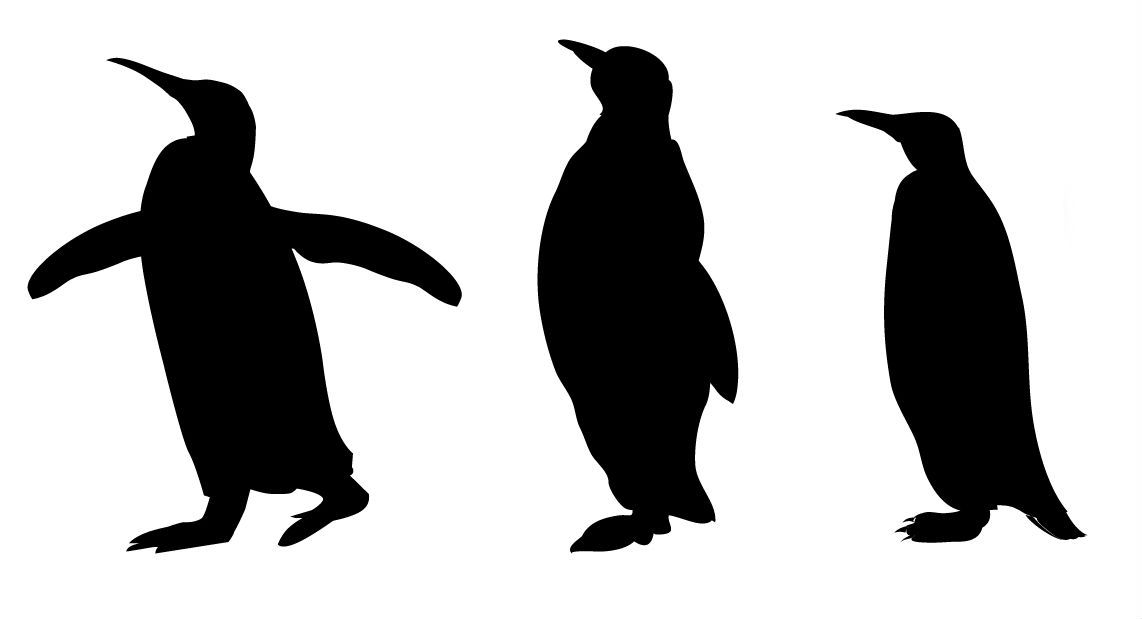 Wee Heart Art: animal silhouettes.