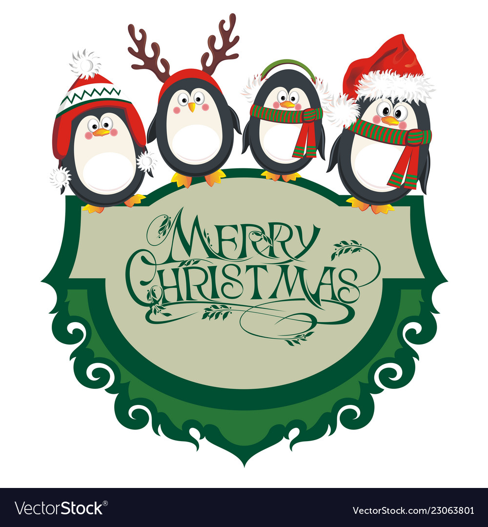 Christmas penguins.