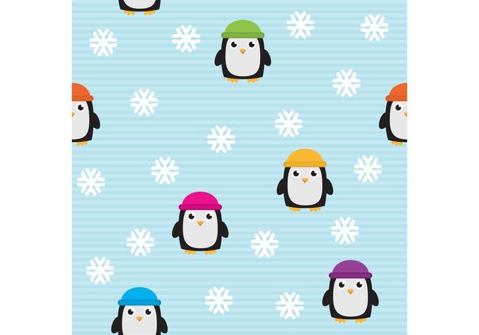 Cute Penguin Vector Pattern.