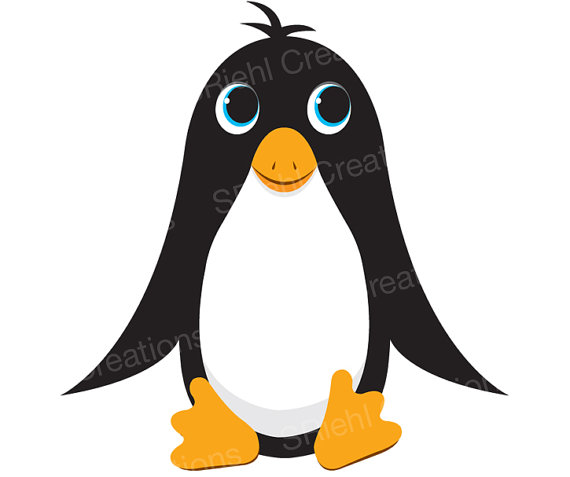 Cute Penguin Clipart Ocean Animals Instant Download Instant.
