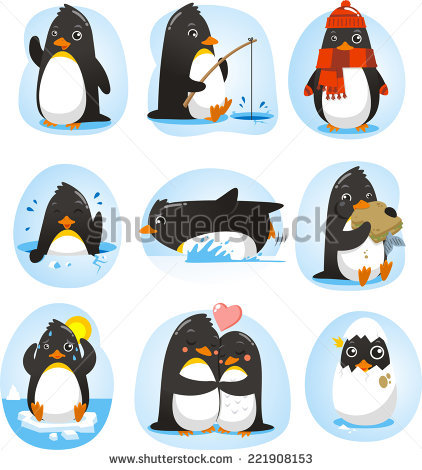 Penguins Stock Photos, Royalty.