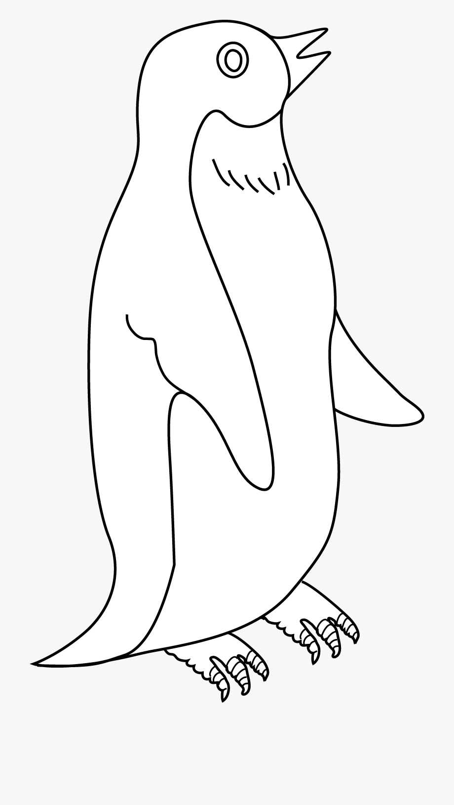 Penguin Clipart Black And White.