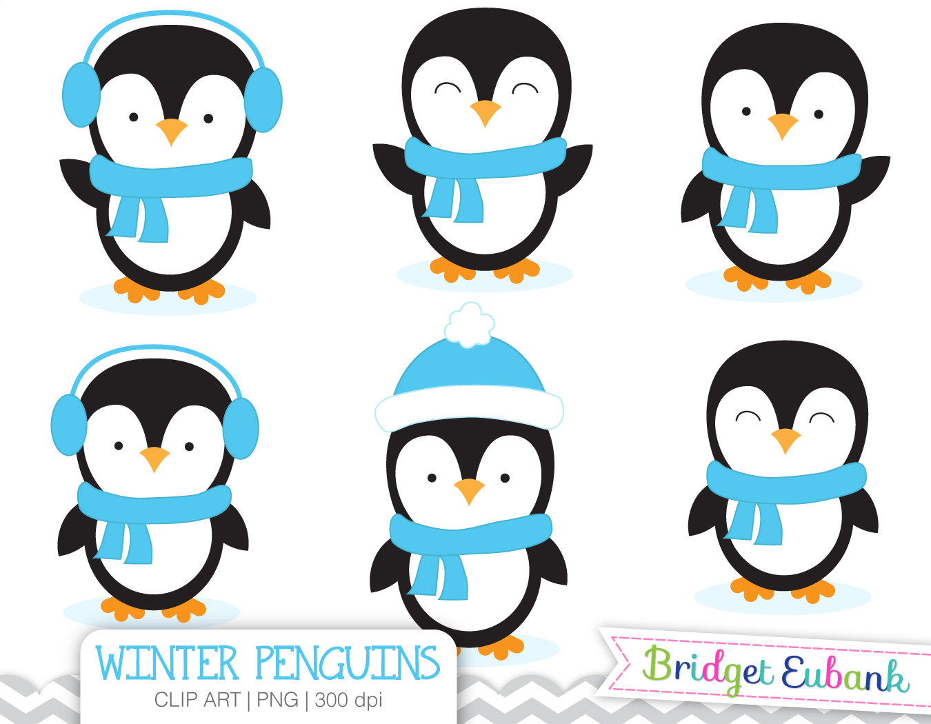 Clipart Winter Penguin.