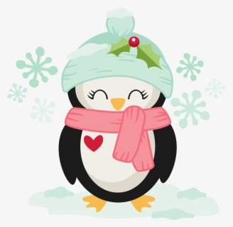 Free Winter Penguin Clip Art with No Background.