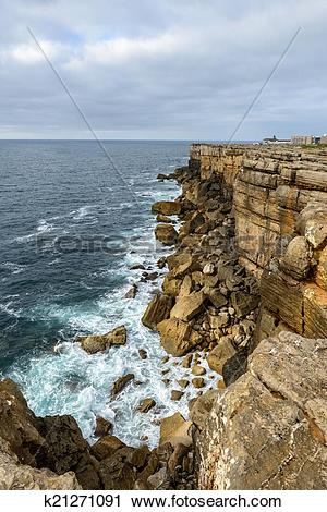 Stock Photography of Cabo Carvoeiro near Peniche (Portugal.
