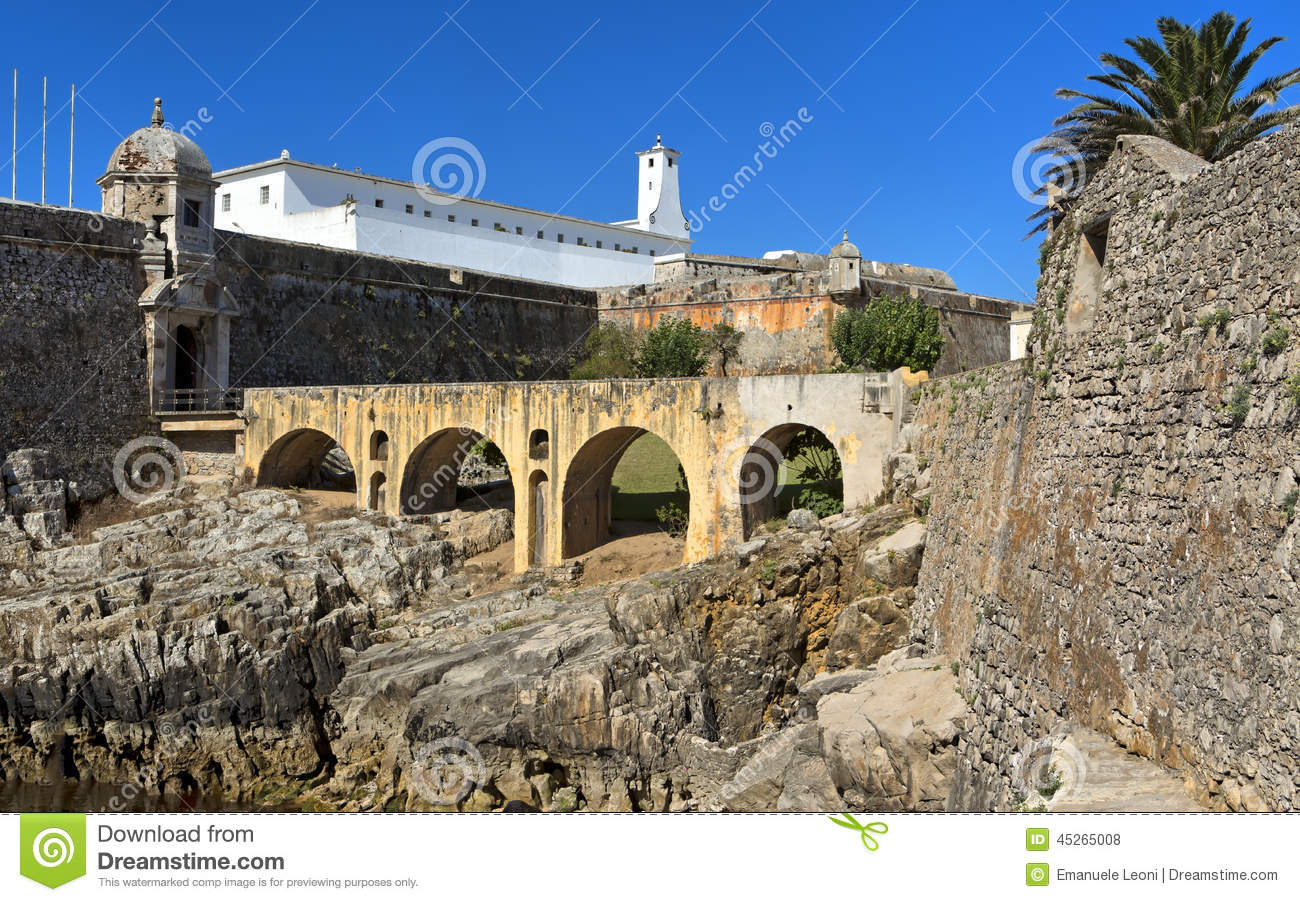Fortress Of Peniche (Portugal) Stock Photo.