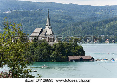 Stock Image of Maria Worth Church, founded in the 9th century., on.