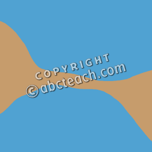 Cape landform clipart.