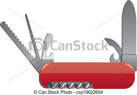 Clipart Vector of pocket knife csp19022654.