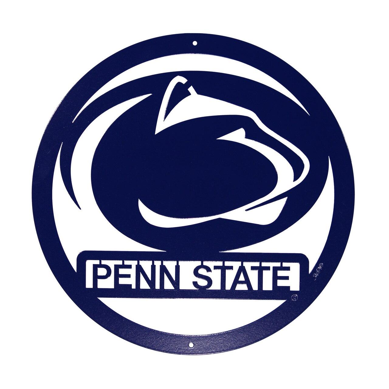 PENN STATE NITTANY LIONS Collegiate Logo Metal Wall Art Decor.