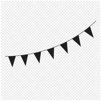 Pennant Banner Flags Clipart.