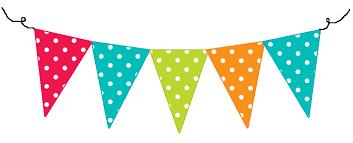 Image result for pastel pennant banner clip art.