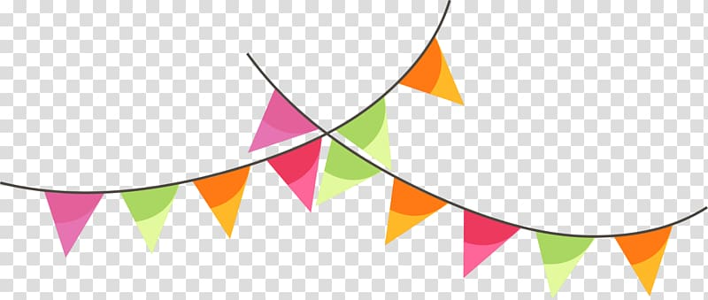Pennant banner , Banner Illustration, Colorful cartoon flag.