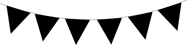 Free Pennant Clipart Black And White, Download Free Clip Art.
