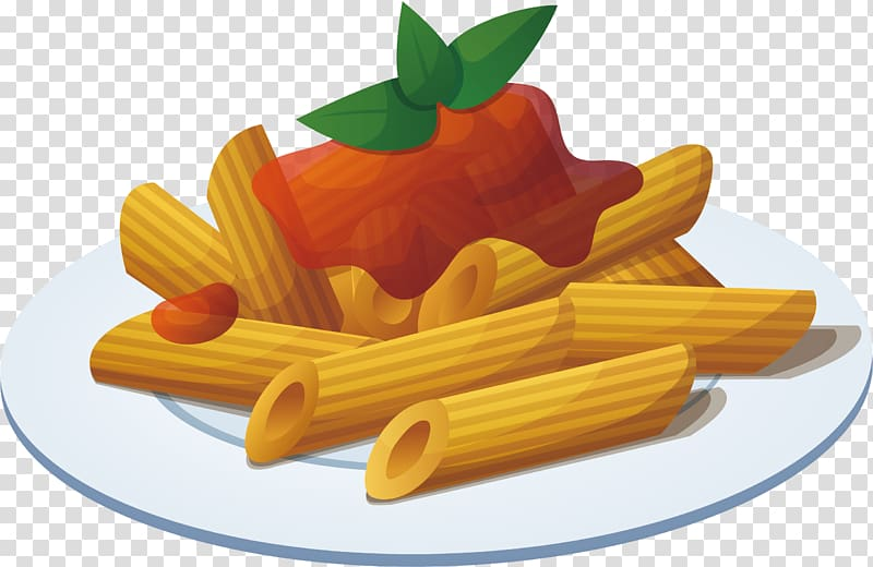 Pasta with sauce toppings , Pasta Italian cuisine Pizza.