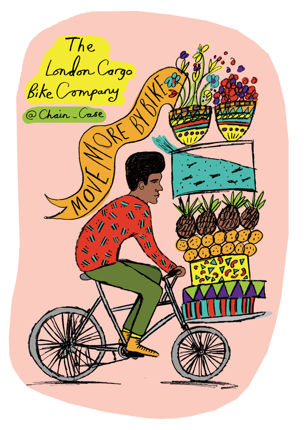A Bicycle Culture, Freshly penned artwork for The London Cargobike.