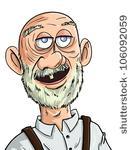 Older balding man profile vector image.