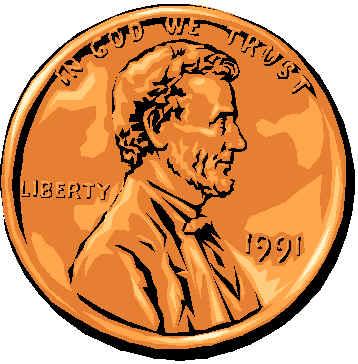 Pennies Clipart.